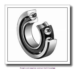 45 mm x 100 mm x 25 mm  45 mm x 100 mm x 25 mm  ZKL 7309B Single row angular contact ball bearings