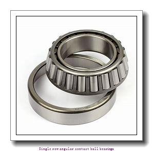 60 mm x 110 mm x 22 mm  60 mm x 110 mm x 22 mm  ZKL 7212AA Single row angular contact ball bearings