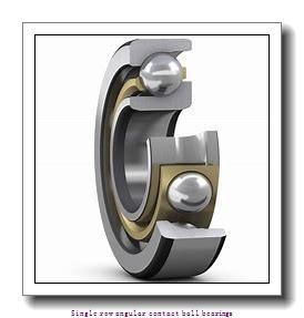 55 mm x 100 mm x 21 mm  55 mm x 100 mm x 21 mm  ZKL 7211AA Single row angular contact ball bearings