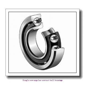 45 mm x 100 mm x 25 mm  45 mm x 100 mm x 25 mm  ZKL 7309B Single row angular contact ball bearings